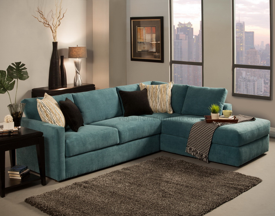 Benchley Cachet Peacock Sectional