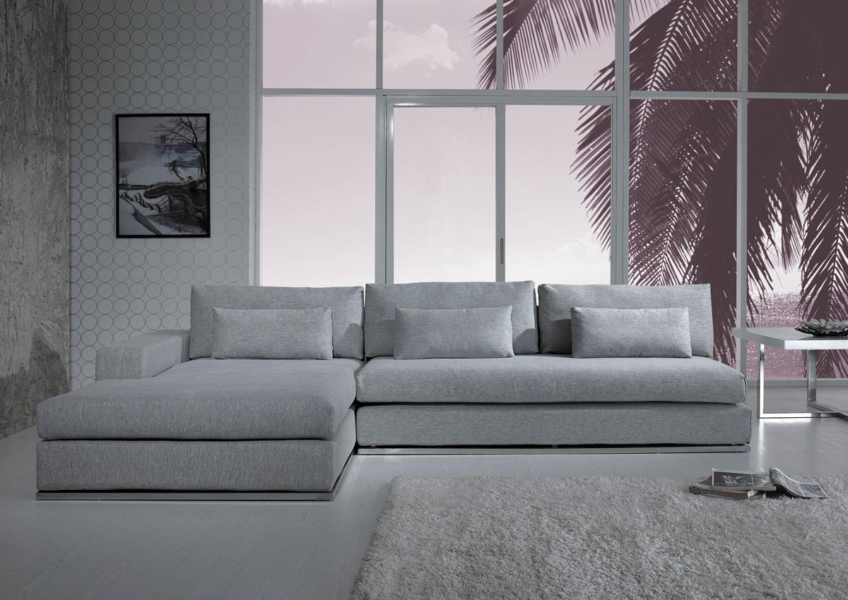 Etonnant Ashfield Light Grey Fabric Sectional