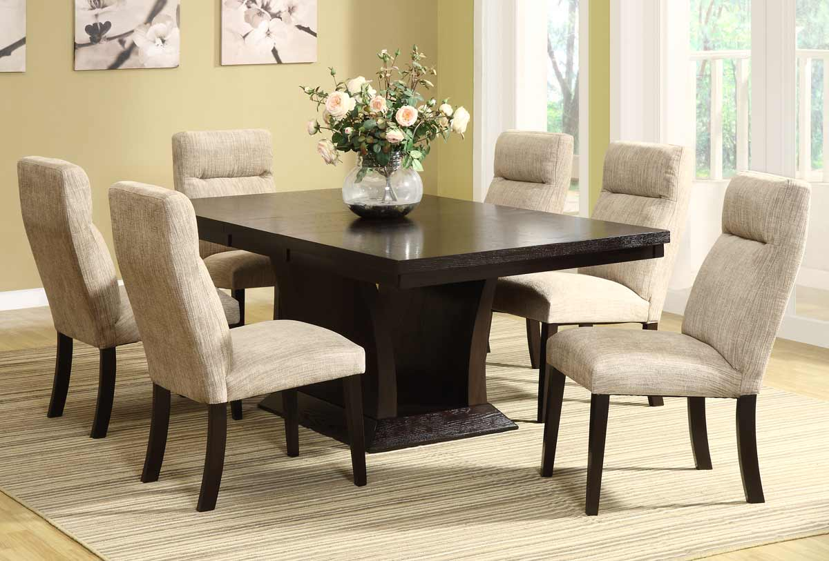 Avery Espresso 7pc Solid Wood Dining Set Las Vegas