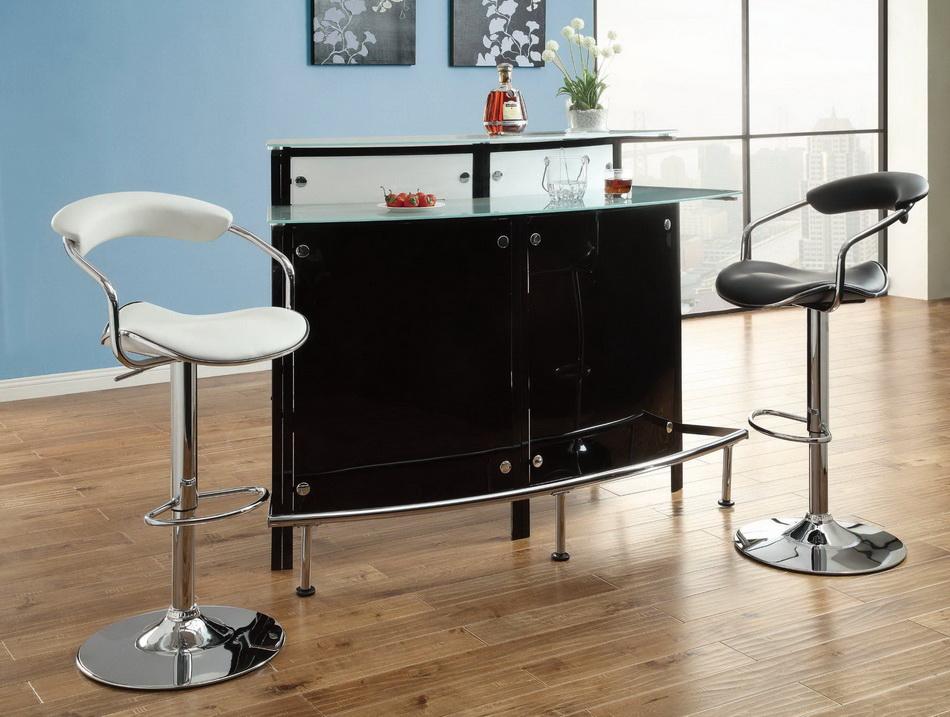 Half Moon Black Bar Unit Las Vegas Furniture Store Modern Home Furniture Cornerstone Furniture