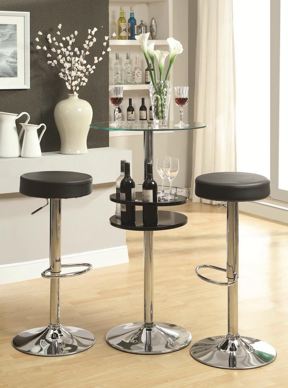Roy Black Small Bar Table Set Las Vegas Furniture Store Modern Home Furniture Cornerstone