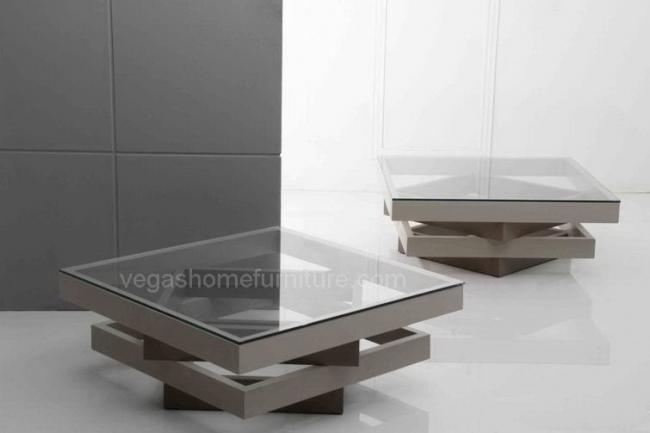 Gray Square Glass Coffee Table Las Vegas Furniture Store