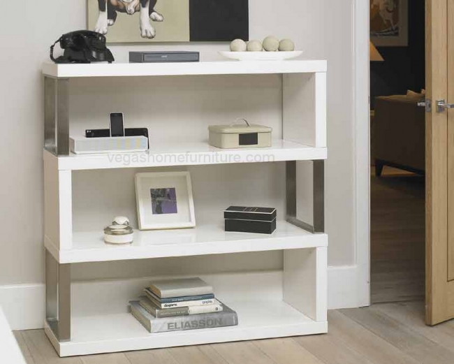 Agent 032 White Gloss Bookcase $499