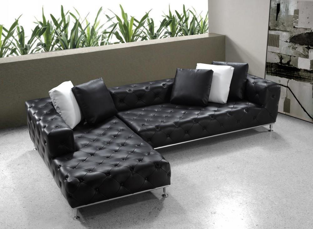 Divani Casa Jazz Black Sectional | Las Vegas Furniture Store | Modern Home  Furniture | Cornerstone Furniture