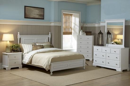 morelle collection 4pc white bedroom set las vegas