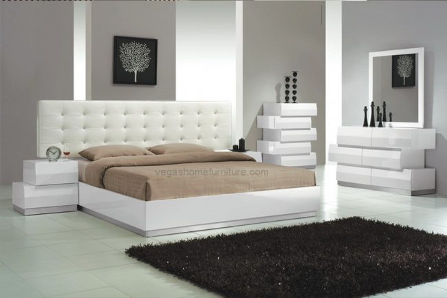 Spain White 4pc Bedroom Set
