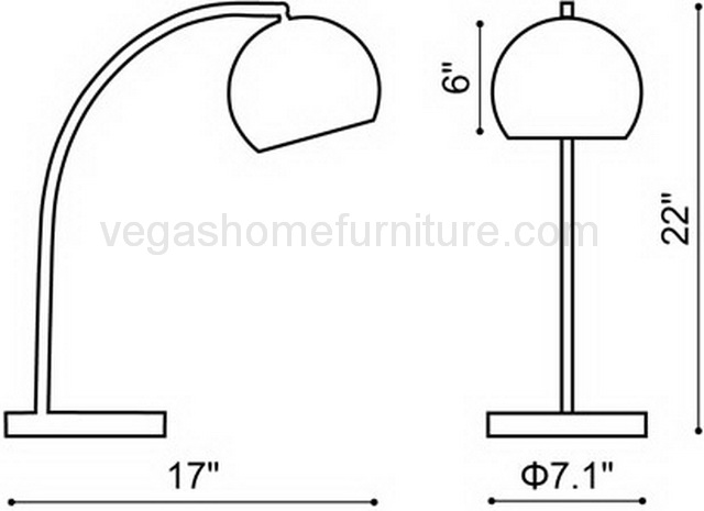 Solaris collection table lamp las vegas furniture store for Z furniture outlet las vegas