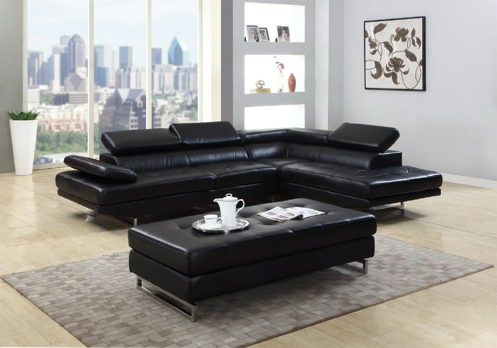 Kemi Bonded Leather Sectional Collection Las Vegas Furniture Store Modern Home Furniture