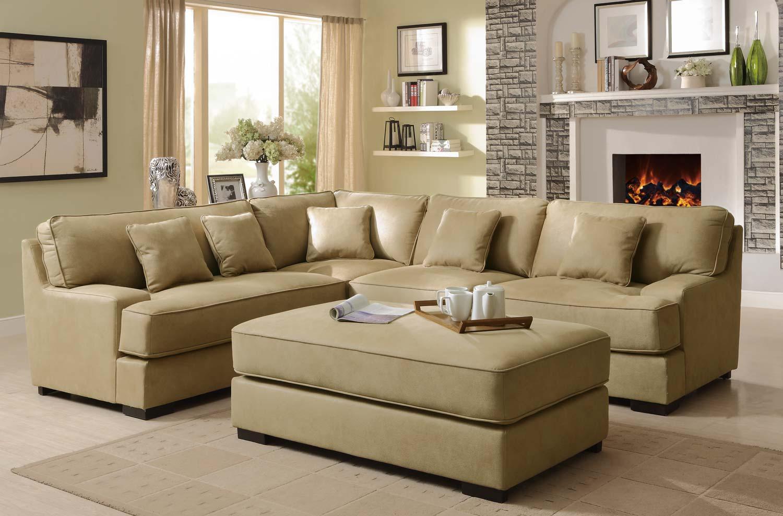 Camel Fabric Sectional Sofa W Camel Fabric Sectional Sofa