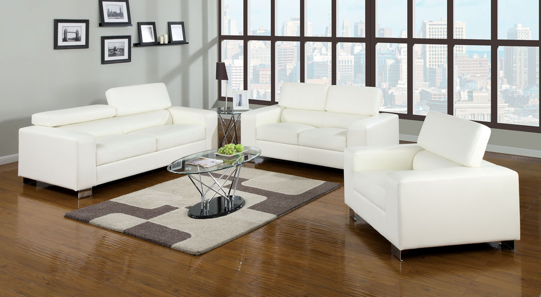 Makri White Living Room