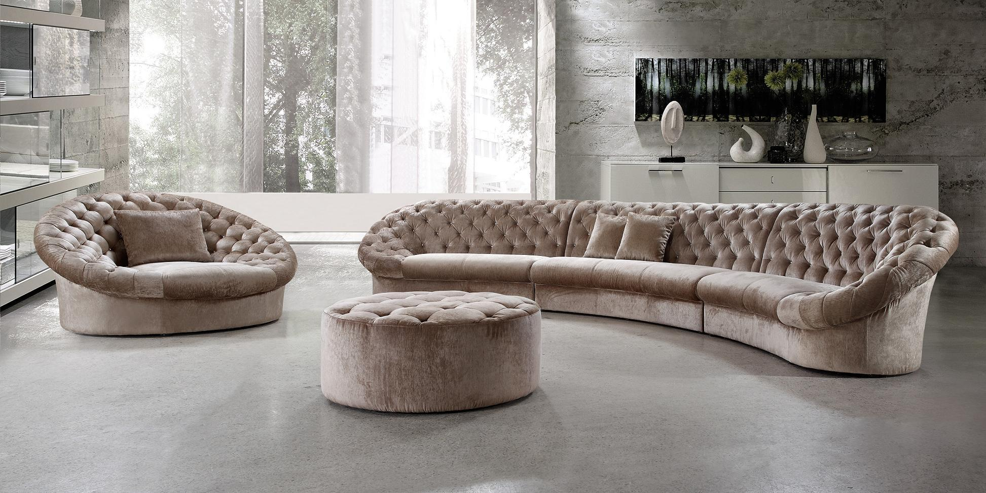 Cosmopolitan Beige Fabric Sectional