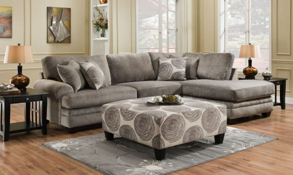 Groovy Champion Grey 2 Pc Sectional Las Vegas Furniture