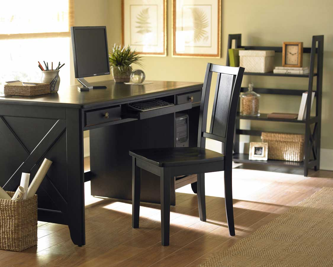 Britanica Cherry Black Office Desk Las Vegas Furniture