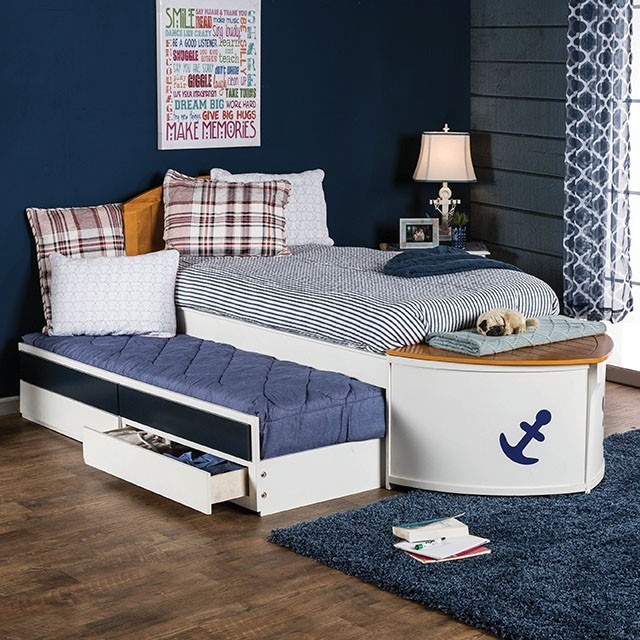 Voyager Boat Twin Bed With Trundle