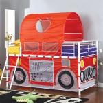 Hucklebee Red Fire Truck Tent Bed