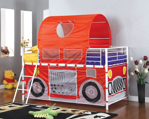 Hucklebee Red Fire Truck Tent Bed