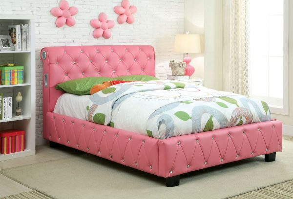 Juilliard Pink Bed with Bluetooth Speakers