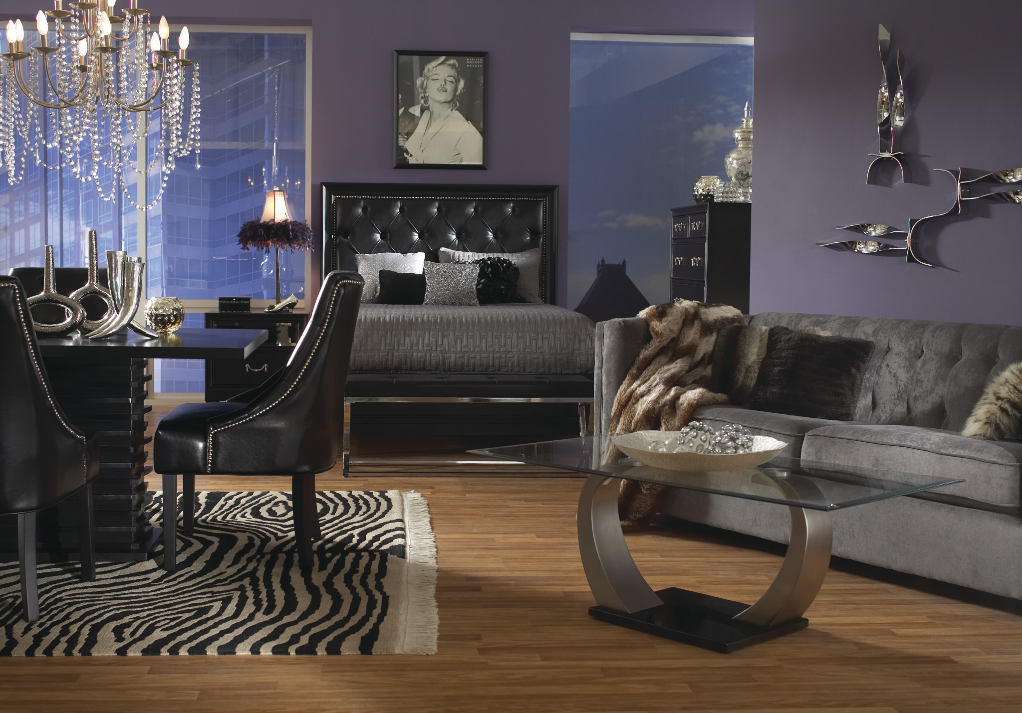 Glam Rocker Home Package Collection Las Vegas Furniture