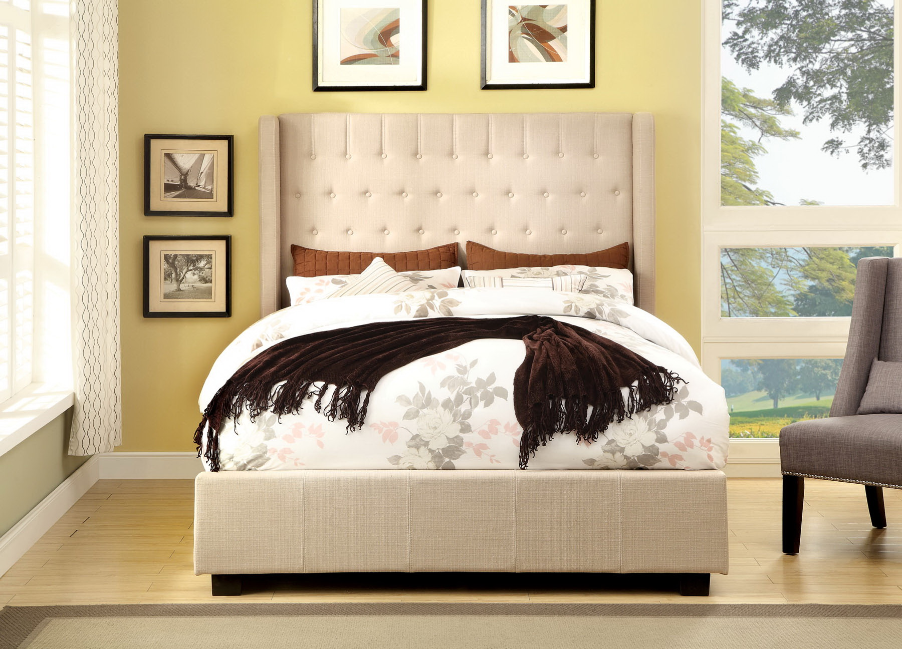 Tufted King Bed Bed Girl Bedding Sets Home Depot Flamingo Akzent Dark Wood Bedroom Furniture