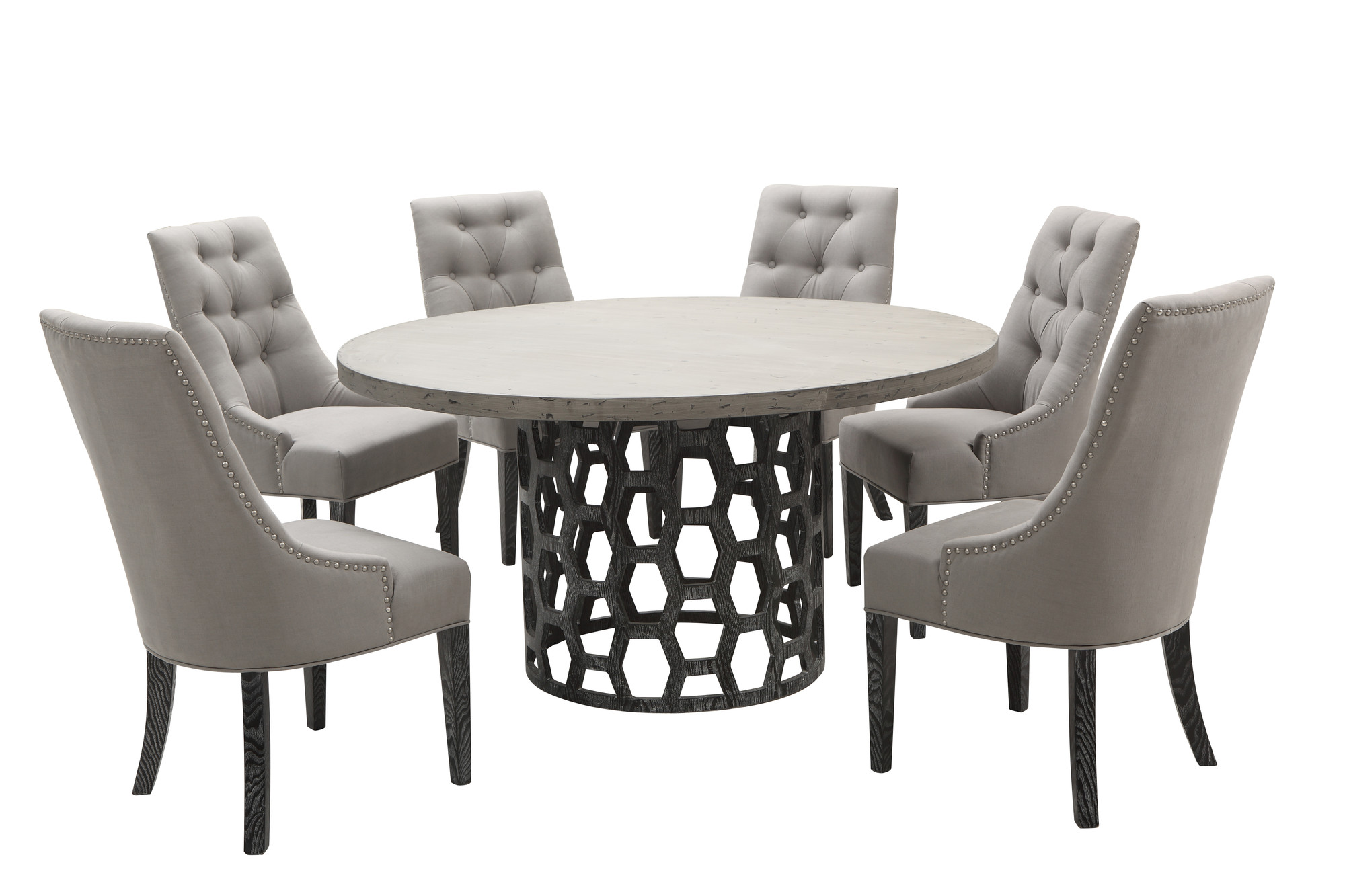 Centennial Round 5pc Dining Table Set Las Vegas Furniture Store Modern Ho