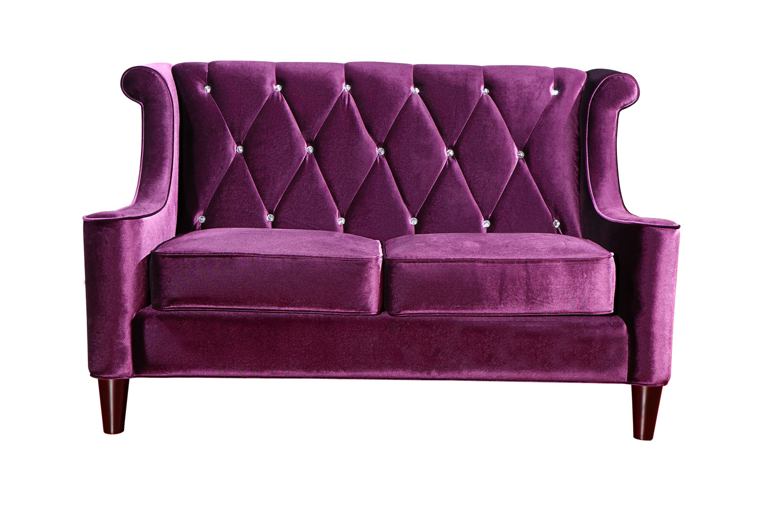 Barrister Eggplant Tufted Velvet with Rhinestones Las  : virtuemartproductlc8442purple front from www.vegashomefurniture.com size 1575 x 1050 jpeg 218kB