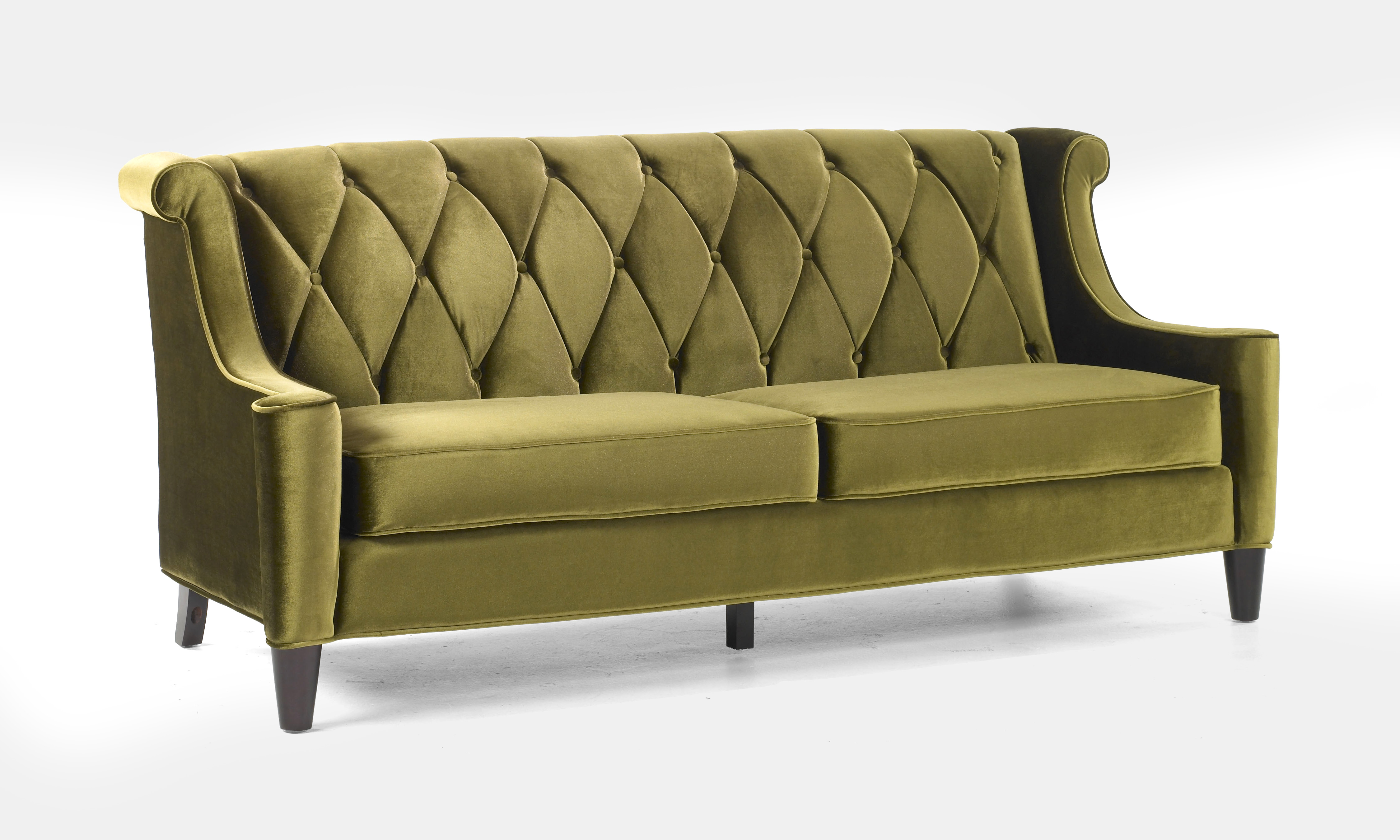 Barrister Green Tufted Velvet With Buttons Las Vegas