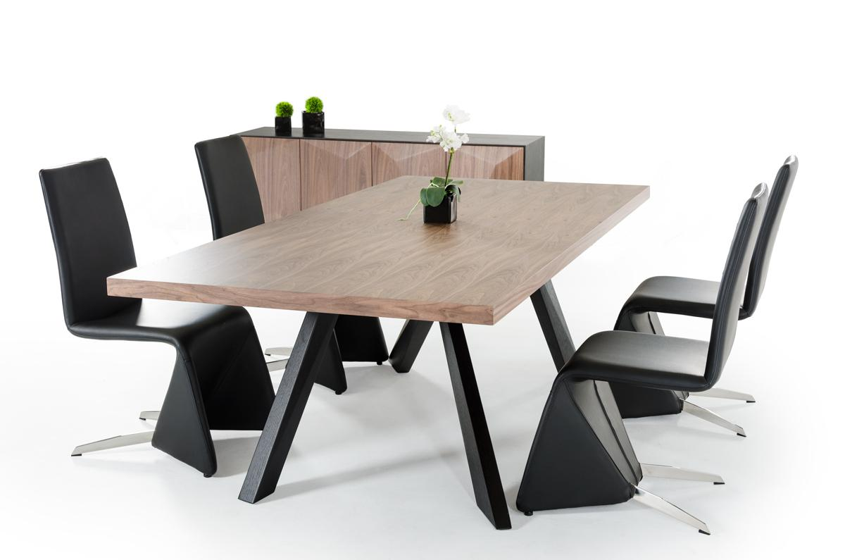 Vanguard Walnut And Wenge Table Dining Collection Las Vegas Furniture Store  Modern Home Furniture Cornerstone Furniture. Vanguard Modern Small White And Grey Dining Table Modern Dining Tables