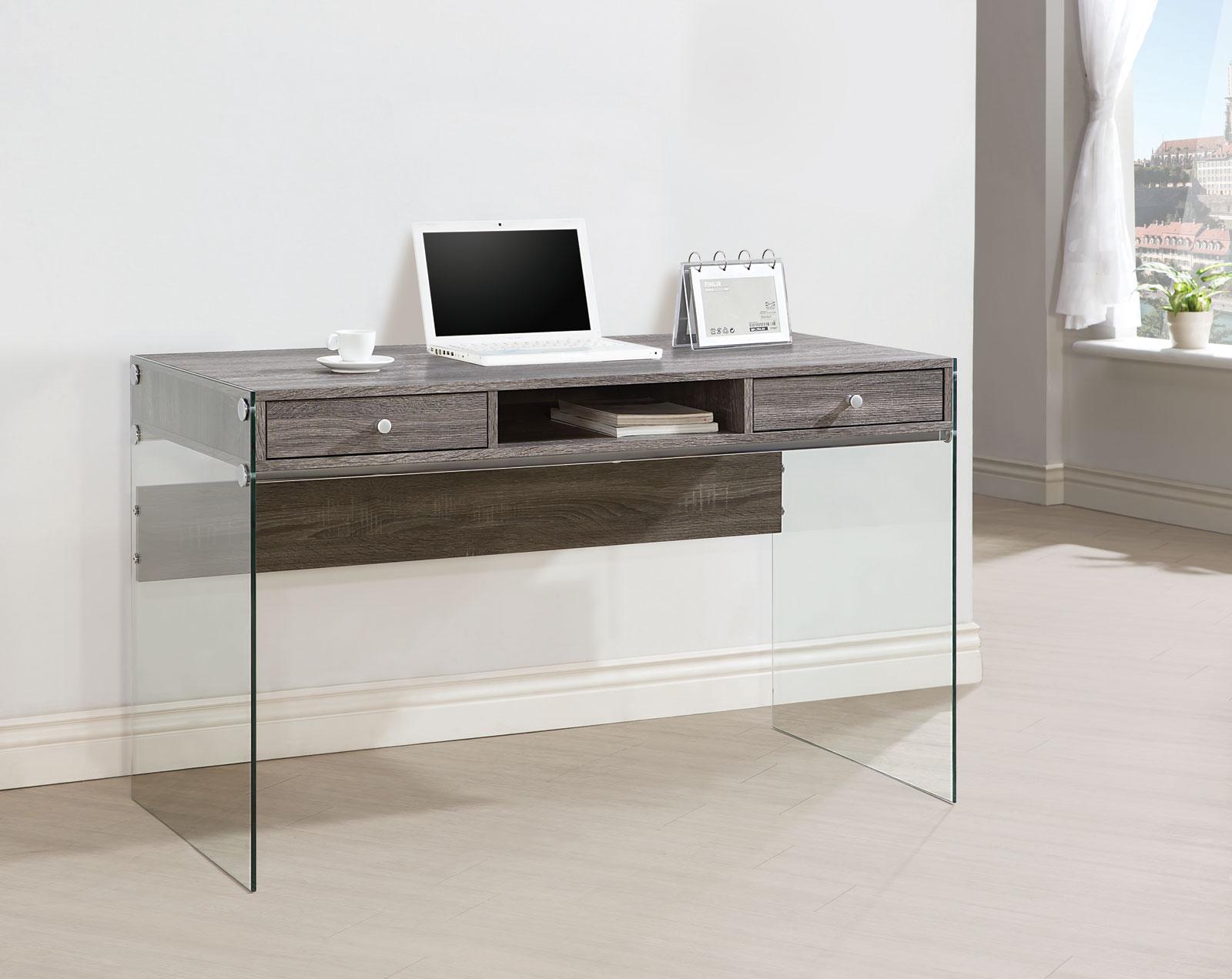 Arlington Weather Grey Office Desk Las Vegas Furniture