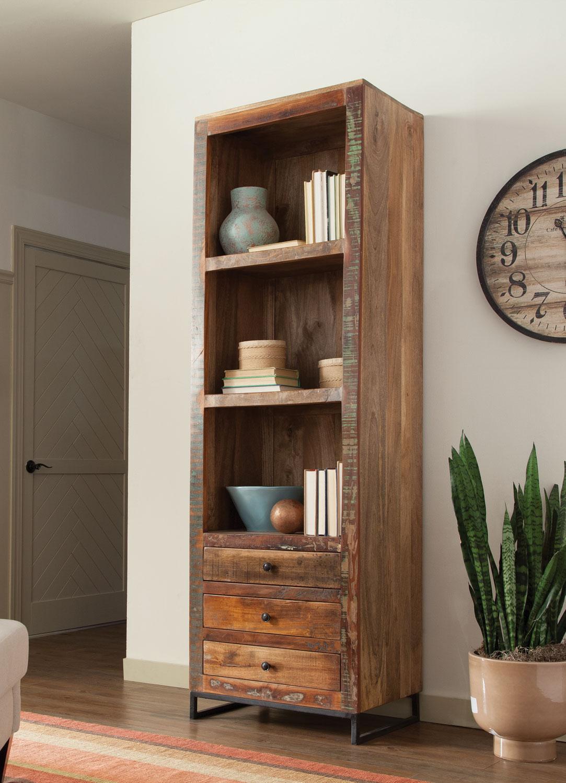 Reclaimed Wood Bookcase 898 Las Vegas Furniture Store Modern Home Furniture Cornerstone