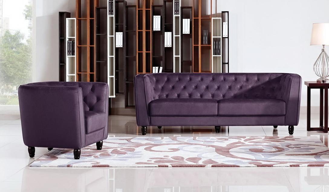 Bellini Purple Living Room Las Vegas Furniture Store