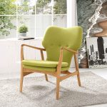 Heed Accent Chair with Birch Wood Frame
