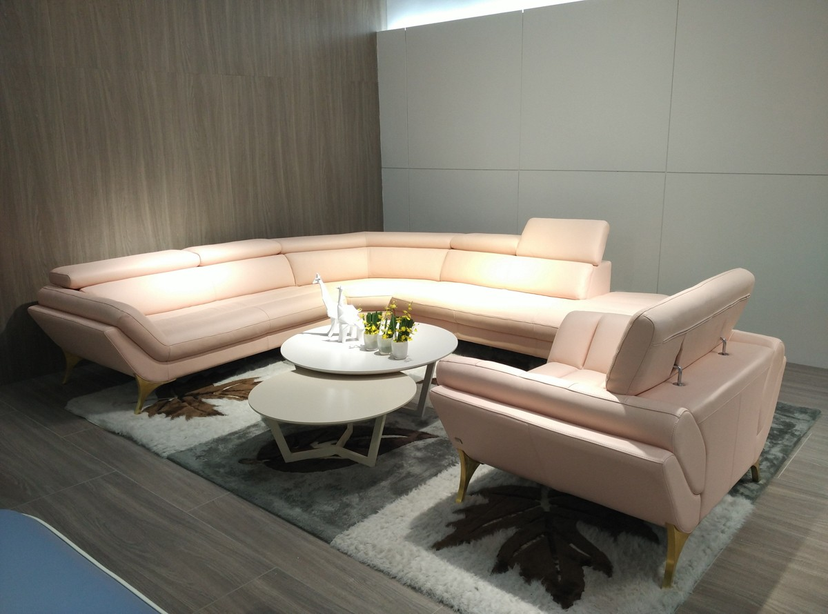 1541. 1541 Modern Pink Leather Sectional   Chair Set   Las Vegas