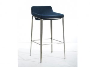 Adhil Blue Fabric Bar Stool