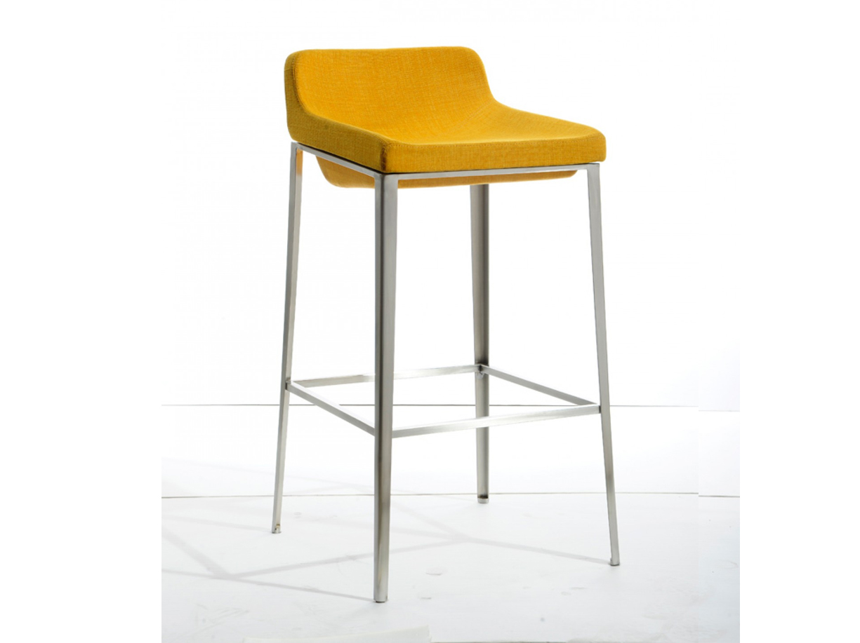 Adhil Yellow Fabric Bar Stool