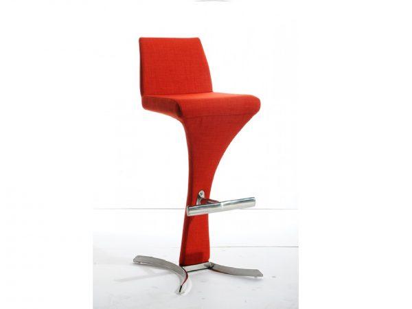 Ascella Modern Orange Fabric Bar Stool