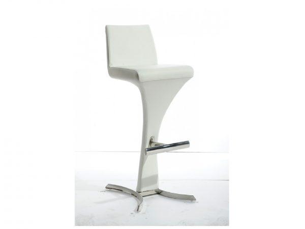 Ascella Modern White Leatherette Bar Stool