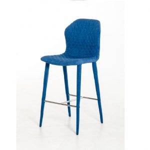 Astoria Modern Blue Fabric Bar Stool