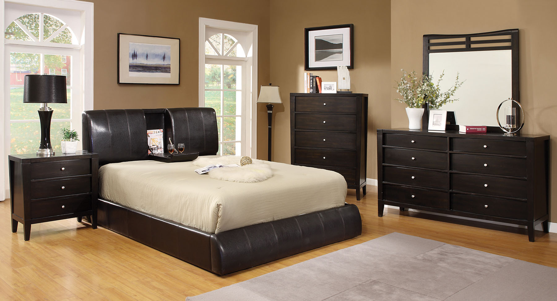 Webster Expresso 4pc Collection Bedroom Set