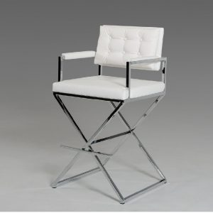Coppola Modern White Leatherette Bar Stool