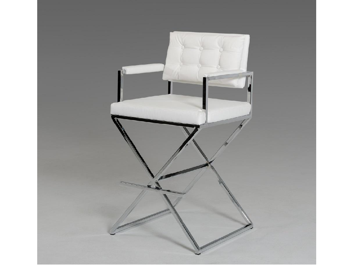 Coppola Modern White Leatherette Bar Stool