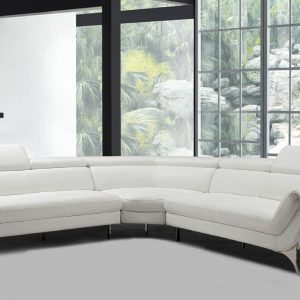 graphite white leather sectional