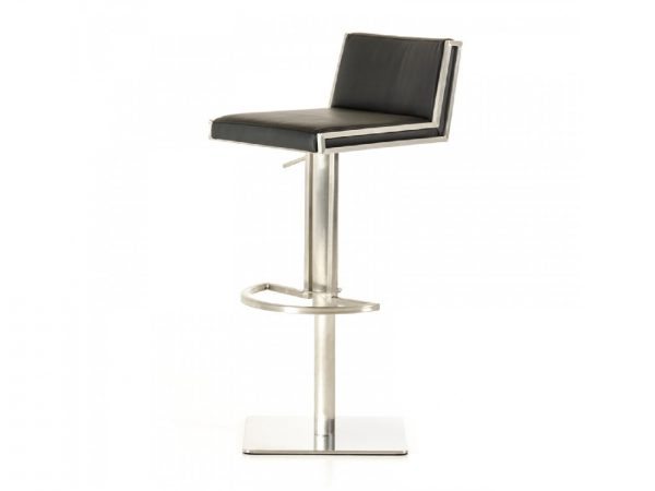Keira Modern Black & Walnut Bar Stool