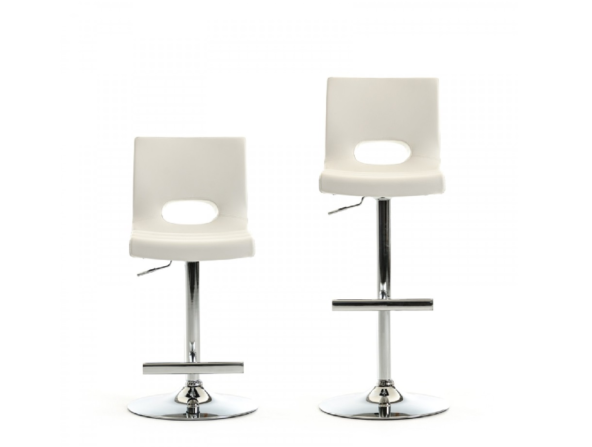 Lauda Modern White Bar Stool