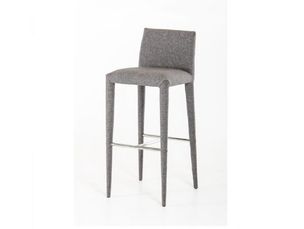 Medford Modern Grey Fabric Bar Stool