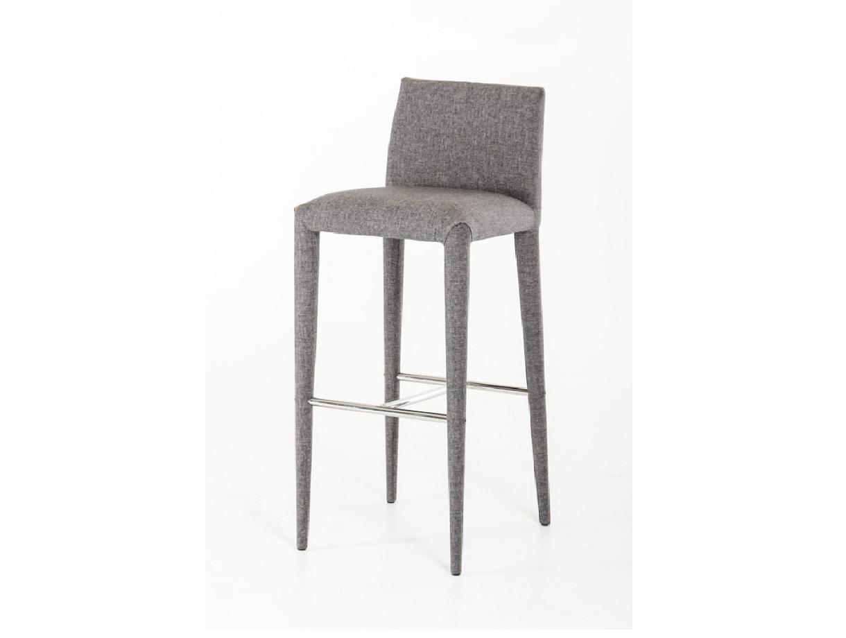 Medford Modern Grey Fabric Bar Stool