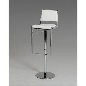 Modern White Bar Stool