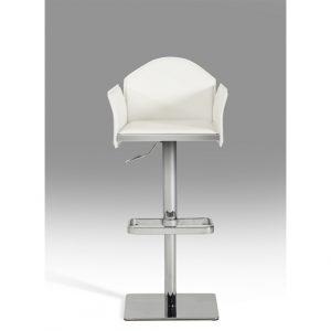 Modern White Eco-Leather Bar