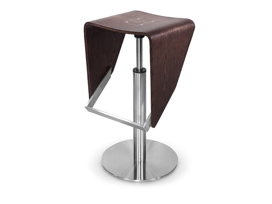 Modrest Jackson – Modern Brown Oak Barstool v3