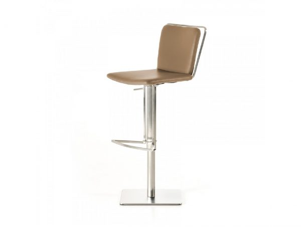 Nora Modern Taupe Leatherette Bar Stool