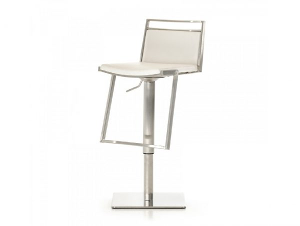 Peyton Modern White Bar Stool